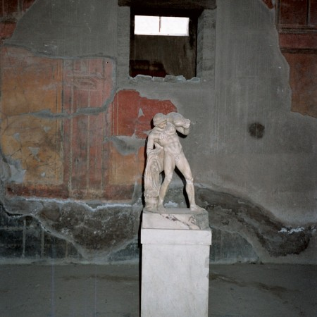 Statue of a god in a house in Herculaneum