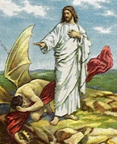 Jesus is tempted by the devil