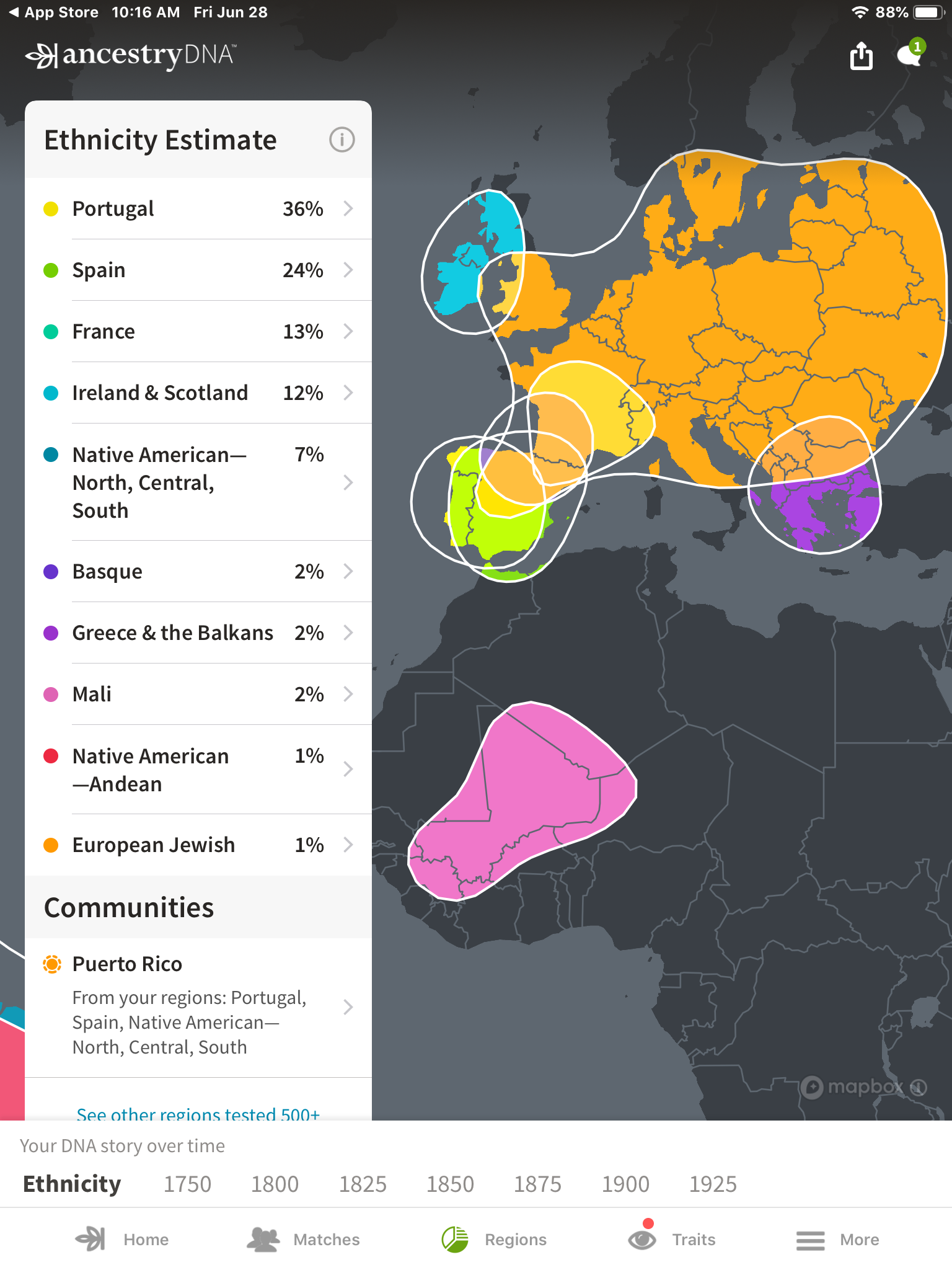 My Ancestry.com DNA results and cultural breakdown