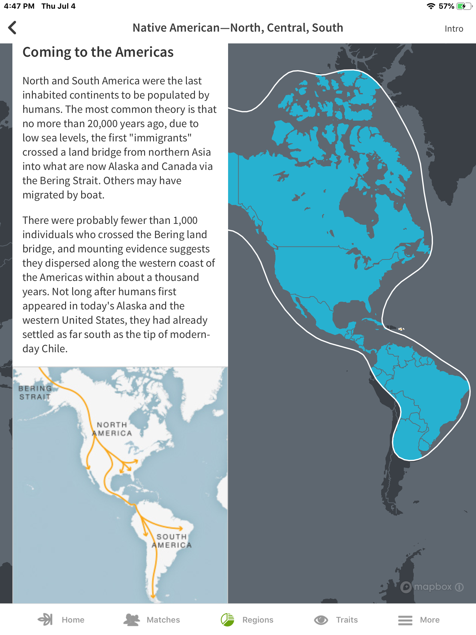 Native Americans migrated from Europe and Asia