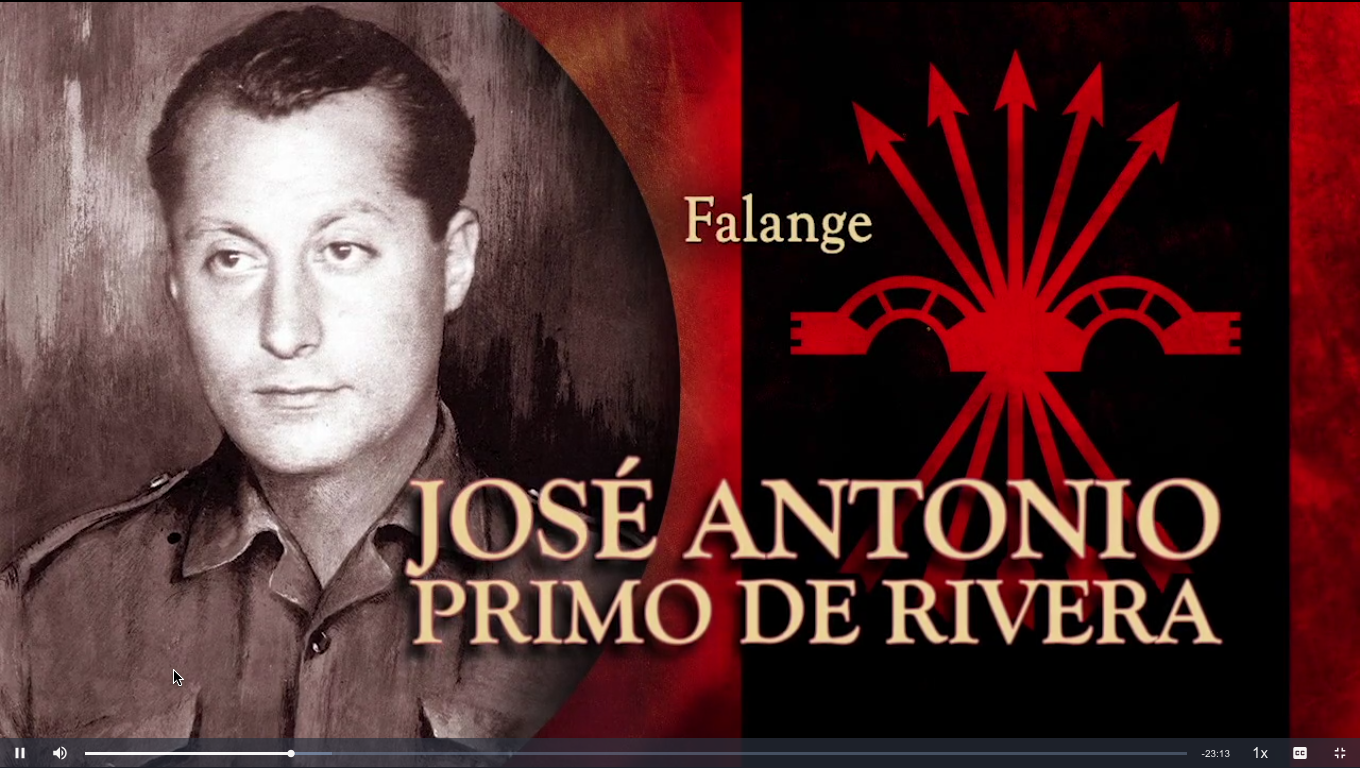 My 2nd cousin, Jose Antonio Primo de Rivera