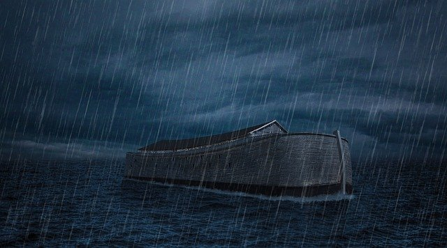 As in the days of Noah.... Noah's Ark and the flood.