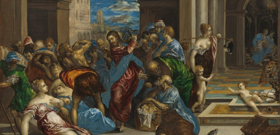 Jesus Clearing the Temple by El Greco