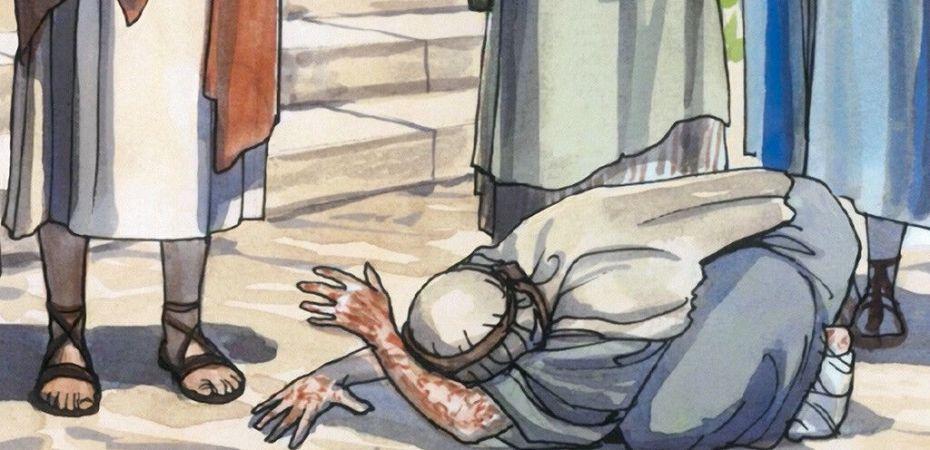 Jesus heals the leper