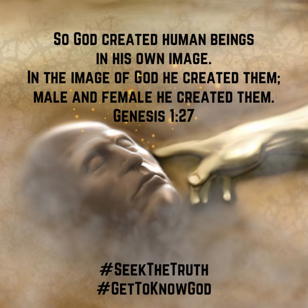 Genesis 1:27, God create human beings in His own image: male and female He created them.