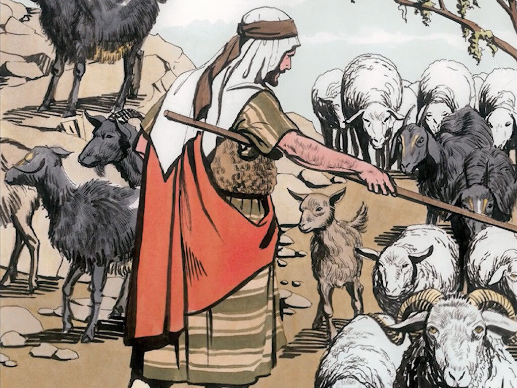 Jesus separating the sheep and goat nations in the final judgement. By Good News Productions International from FreeBibleImages.org. (CC BY-NC-ND 4.0)