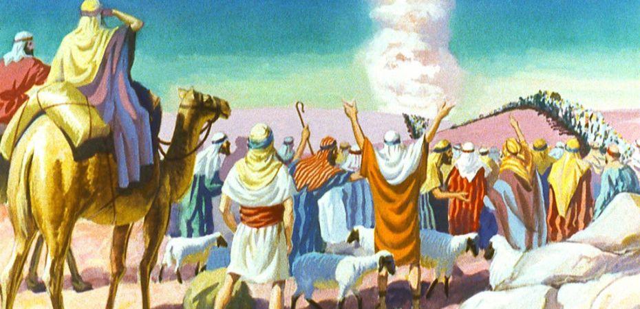 God pillar of fire from Egypt