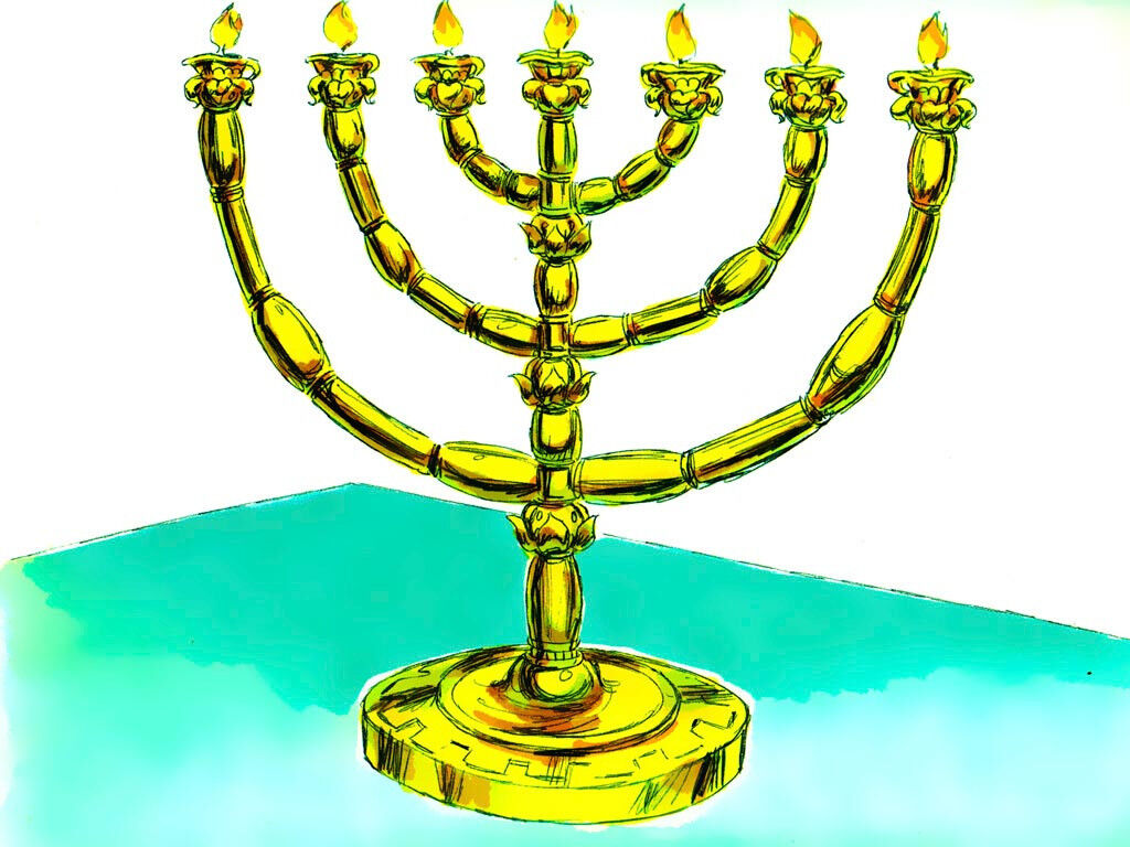 Menorah - lampstand by Sweet Publishing from FreeBibleImages.org