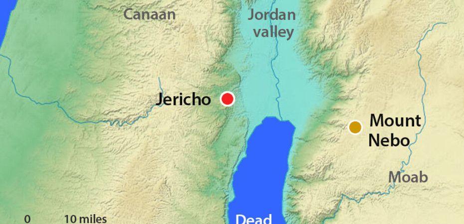 map Jericho, Promised Land