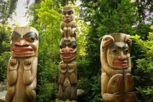 Native Canadian totem poles