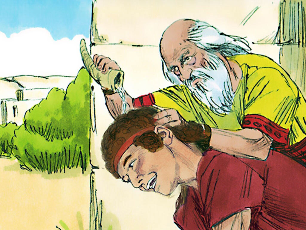 Samuel Anoints David. Image by Sweet Publishing from FreeBibleImages.org, (CC BY-SA 3.0)