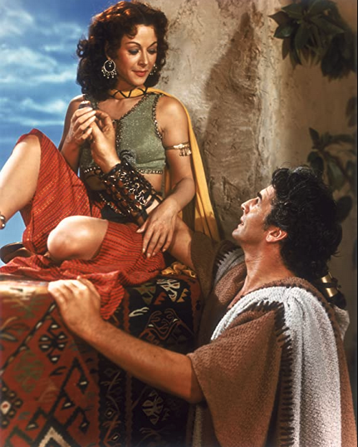 Heddy Lamar as Delilah and Victor Mature as Samson, Samson and Deliliah, 1949, Image from IMDB.