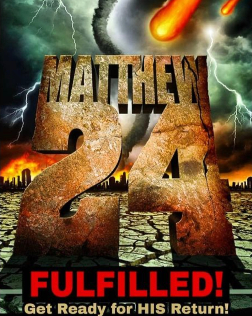 Matthew 24 Fulfilled. The Prophecies of Jesus Christ are coming true right now! We are living in the End Times!