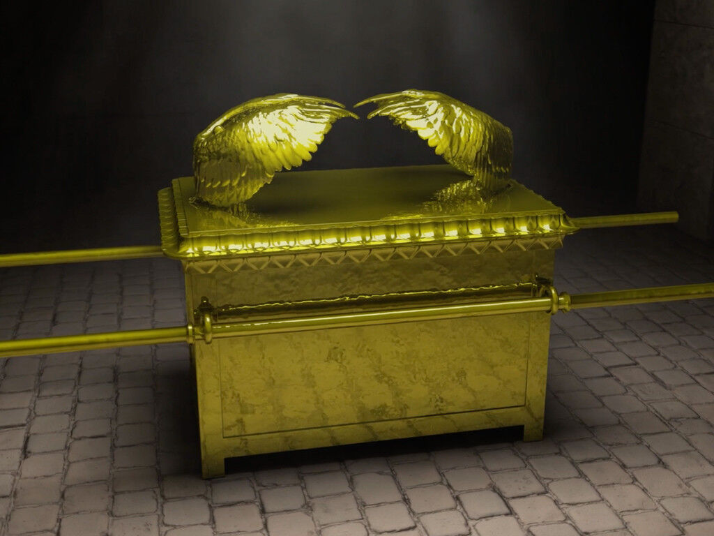 The Ark of the Covenant - 3D rendering. Image by Jeremy Park of Bible Scenes from FreeBibleImages.org (CC BY-NC-ND 4.0)