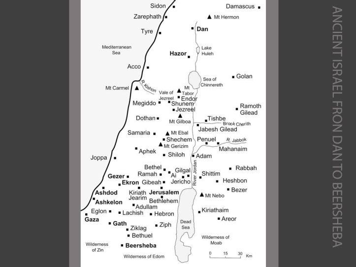 Map of Ancient Israel. Image by Chris and Jenifer Taylor of The Bible Journey from FreeBibleImages.org (CC BY-NC-ND 4.0)